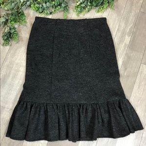 Nanette Lepore Ruffle Hem Sweater Skirt